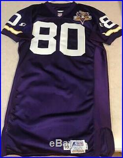1996 Cris Carter Minnesota Vikings Game Team Issued 35th Anniversary Jersey