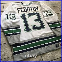 1996 Starter NHL Game Issued Jersey Hartford Whalers Sergei Fedetov Sz. 54 Used