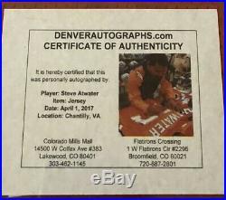 1996 Steve Atwater Autod Nike Game Issued Jersey COA HOF