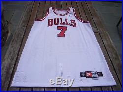 1997-98 Nike Toni Kukoc Chicago Bulls Game Issued Pro Cut Jersey vtg