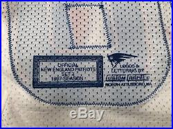1997 Terry Glenn #88 Game Issued White New England Patriots Team Jersey