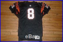 1997 jeff Blake Cincinnati Bengals Game Used Team Issued Wilson jersey