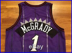 1998-99 Raptors Tracy McGrady Game Used Worn Jersey 50 + 4 pro cut issued rookie
