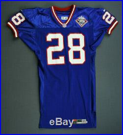 1998 Raymond Priester New York Giants Game Issued Jersey Size 46 Not Worn