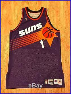 1999-00 Anfernee Penny Hardaway Phoenix Suns Road Game Used Issued Procut Jersey
