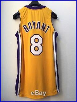 1999/00 Kobe Bryant La Lakers Team Issued Game Jersey Media Day Pro Cut 42 +4 Pe