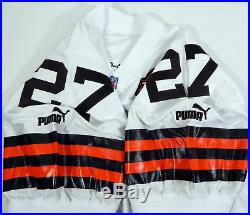 1999 Cleveland Browns Michael Blair #27 Game Issued White Jersey