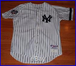 2000 Andy Pettitte NY Yankees Game Issued Home Pinstripe World Series Jersey-#46
