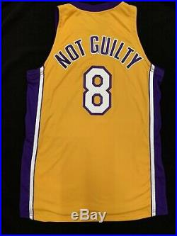 2001-02 Kobe Bryant La Lakers Team Issued Game Jersey Not Guilty Family Pe USA