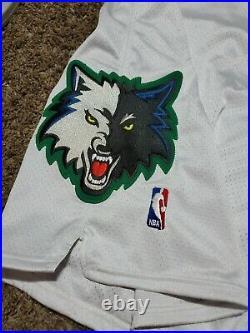 2001-02 MINNESOTA TIMBERWOLVES Team Issued Reebok NBA Jersey Shorts Sz 44 Game