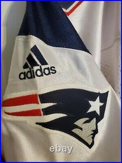 2001 Adidas New England Patriots Lee Johnson Team Issued Game Worn Jersey