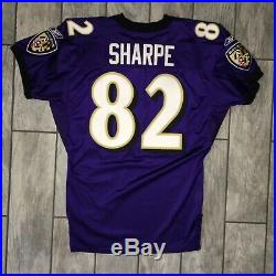 2001 Baltimore Ravens Jersey Shannon Sharpe Authentic Game Issued HOF Used Worn
