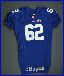 2001 Glenn Parker New York Giants Super Bowl 35 Game Issued Jersey Size 52