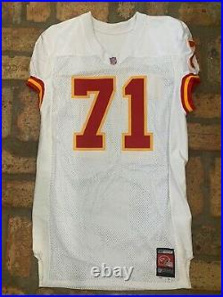 2001 NFL Kansas City Chiefs Team Game Issued #71 Jersey Road White Reebok