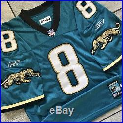 2001 NFL Reebok Jacksonville Jaguars Game Team Issued Jersey QB Mark Brunell #8