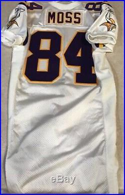 2001 Randy Moss Minnesota Vikings Team Issued Game Jersey Authentic Hof