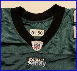 2001 Tra Thomas Philadelphia Eagles Game Worn Team Issued & Signed Jersey Old