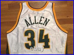 2002-03 Seattle Supersonics Ray Allen Game Worn Jersey 46+2 issued used pro cut
