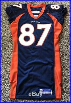 2002 Denver Broncos Ed McCaffrey Reebok Game Used/Issued Jersey 02-44