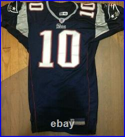 2002 Game Worn Blue Home New England Patriots Team Issued Jersey #10 COA