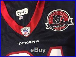 2002 Inaugural Aaron Glenn Autograph Houston Texans Issued/Game Worn Jersey