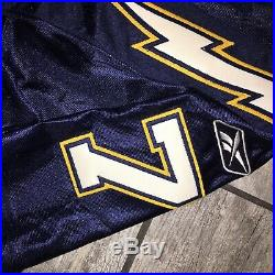 2002 Reebok Team Game Issued Autograph Jersey Doug Flutie San Diego Chargers 48