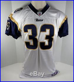 2002 St Louis Rams Justin Watson #33 Game Issued Poss Game Used White Jersey