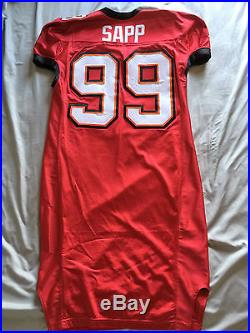 2002 Tampa Bay Buccaneers Warren Sapp Game Cut Jersey Team Issue No Reserve