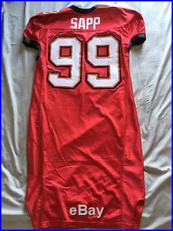 2002 Tampa Bay Buccaneers Warren Sapp Game Cut JerseyAuthentic Team Issued