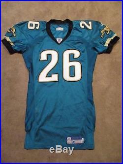2003 Blue Adams Game Issued Worn Jacksonville Jaguars Football Jersey Used WVU