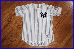 2003 Derek Jeter Game Used Home Jersey Issued Worn Yankees w 100th Ann. Patch