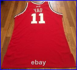 2003 NBA All-Star Game Rockets Yao Ming Pro Cut Jersey 54 + 4 issued used worn