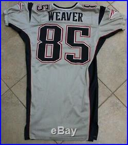 2003 New England Patriots Silver Game Un Used Team Issued Jersey Jed Weaver