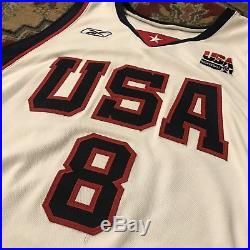 2004 Carmelo Anthony Team USA Basketball Pro Cut Issued Game Jersey Nba 52 Used