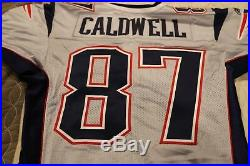2005 New England Patriots Silver Game Un Used Team Issued Jersey Caldwell NFL