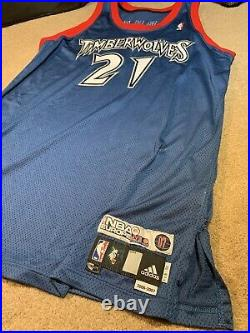2006-07 Kevin Garnett Europe Live Game Issued Jersey Timberwolves ULTRA RARE