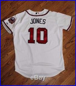 2006 Chipper Jones Game Used and signed Jersey Issued Worn Braves HOF (MLB Auth)