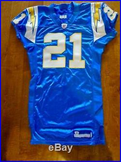 2006 LaDAIMIAN TOMLINSON GAME ISSUED & SIGNED SAN DIEGO CHARGERS ALTERNATE POWDE