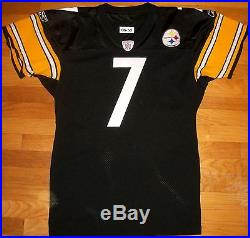2006 Steelers Roethlisberger Pro Cut Team Issued Game Jersey 50 Reebok USA RARE