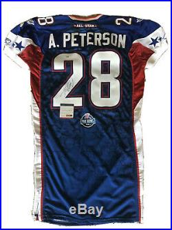 2008 Adrian Peterson Pro Bowl Game Issue Rookie MVP Signed Autographed PSA/DNA