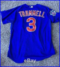 2009 Cubs Game Issued/Worn Jersey Blue No. 3 (Alan Trammell)