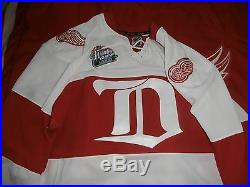 2009 Game Issued Detroit Red Wings Winter Classic Jersey-tomas Kopecky-meigray