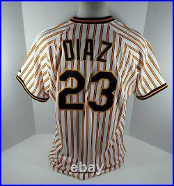2009 Pittsburgh Pirates Robinzon Diaz #23 Game Issued White Pinstripe Jersey 79
