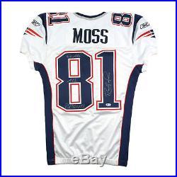 timeless design 1fd7e 56153 2009 Randy Moss Signed Inscribed New England Patriots Game ...