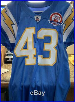 2009 SD/LA Chargers AFL 50th (Limited) Game Issued/Signed Jersey