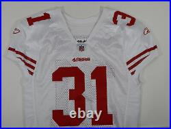 2009 San Francisco 49ers Donte Whitner #31 Game Issued White Jersey DP06210
