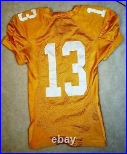 2009 Tennessee Volunteers Game Worn Football jersey Team Player Issued Used Vols