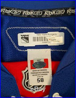 2010-11 New York Rangers Michal Rozsival Game Issued/Worn Jersey with 85th Patch