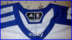2010 Derrick Rose game issued worn BASKETBALL Jersey first all star meigray