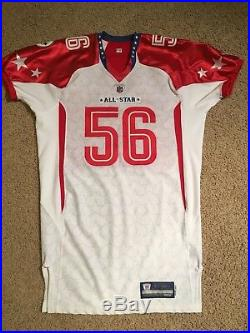 2010 Pro Bowl Game Issued Lamar Woodley Pittsburgh Steelers Jersey